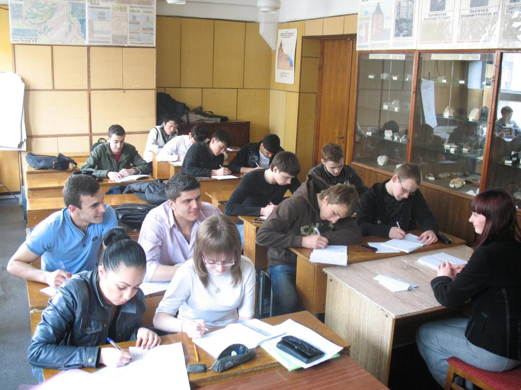 Учбовий процес в аудиторії кафедри геотехніки та підземних споруд